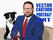 Draw portrait illustration & realistic vector cartoon avatar
