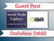 Guest post on Social Media Explorer-socialmediaexplorer.com-DA60
