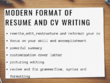 Create professional resume/CV in modern design