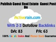 Publish Real Estate dofollow Guest Post On Activerain DA83