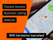 Create Passive Income Business Listing Website