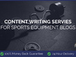 Content Writing for Sports Equipment Blogs