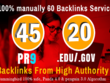 40 PR9 + 20 EDU GOV Backlinks From Authority Domain For SEO Rank