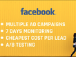 Generate facebook leads at the lowest cost, 7 Days Management