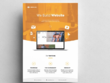 Design elegant landing page and home page