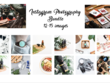 Photograph products for social media in a x15 images bundle