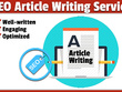 Write a high quality 500 word SEO article or blog in 2 days