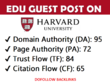 Guest post on my harvard edu university blog (harvard.edu) ,DA95