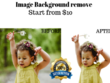 Remove image backgrounds for 10 images within an hour