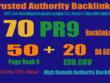 Exclusively-70 Backlinks 50 PR9 +20 EDU/GOV 80+ DA High Quality