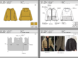 Detailed fashion tech pack design