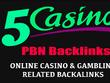 5 Manual PBN - Backlinks from Poker, Gambling, Online Casino