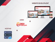 Do Custom Modern website with logo and hosting
