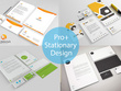 Design a clean, modern with 3 concepts Stationery