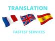 Provide English - French - Spanish  Translation