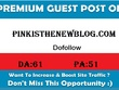 Publish Guest Post on Pinkisthenewblog.com DA-64