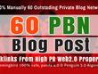 Do 60 Private Blog Network Of web2 BUFFER Sites Backlinks