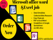 Convert ms word to pdf and pdf to ms word or excel job