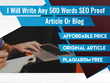 Write a 500 word keyword rich SEO-optimised article or blog