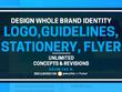 Build whole brand identity,Logo,guidelines,Stationery, flyer