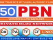 50 Permanent High DA/PA/CF/TF DoFollow PBN Backlink for SEO Rank