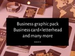 Business graphic pack Business card+letterhead and many more