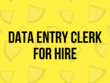 Be your Data Entry Clerk for 1 Hour