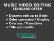 Edit your music video STANDARD OFFER