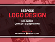 Design Bespoke Logo + Unlimited Concepts & Revisions + Artwork
