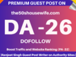 Publish guest Post on The50shousewife.com (Cooking) DA-22