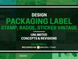 Design Packaging Label, Stamp, Badge, Sticker vintage
