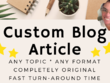 Write a 300-400 word blog article