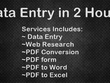 Do Data Entry and web research for 2 hours