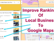 350 google maps 5 star Review Back link for local business SEO