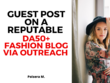 Guest Post on a Reputable DA50+ Fashion Blog Via Outreach