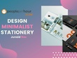 Design minimalist stationery