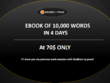 Write 10000 words(25-30 Page) kindle format ebook in 4 days