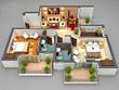 Convert 2D floor plan in to 3D plan