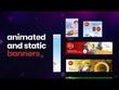 Design animated HTML5 banner 100% money back guarantee