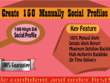 Create 150 Manually Social Profiles Backlinks