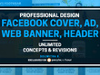 Design a professional Facebook cover/Ad/web Banner/ Header
