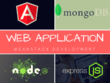 Develop web app using angular node mongodb express