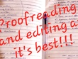 Proofread and edit