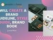 I will design a brand guideline, style guide, brand book