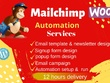 Do mailchimp email template campaign with woocommerce automation