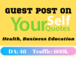 Health Guest Post yourselfquotes.com Traffic 600k