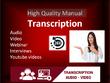 Transcribe audio and do video transcription