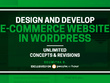 Design and develop e-commerce website in WordPress