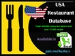 Provide USA  restaurant database 600K+ 77,000+ Emails