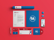 Design business card, letterhead and stationary items